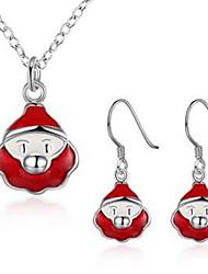Schmuck 1 Halskette 1 Paar Ohrringe Party Alltag Normal 1 Set Damen Weiß Rot Hochzeitsgeschenke