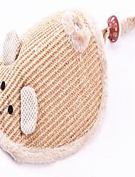 Gatos Brinquedos para Animais Interativo Durável Beje Téxtil