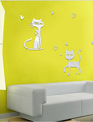 Mirror Wall Stickers Cartoon  Wall Stickers Random Delivery