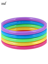 5 pcs Each Set Multicolor Kids Girls Bangles Bracelets Fashion Jewelry for Children Christmas Gift Blue Yellow Purple Green Red BL140057