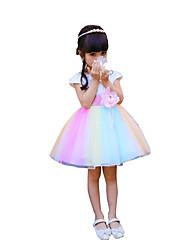 Girl's Casual/Daily Striped Dress,Chiffon Summer Short Sleeve