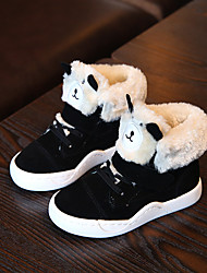 Boy's Sneakers Winter Others Comfort Leather Casual Magic Tape Black Brown Pink