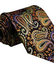 UXL1 Mens Necktie Tie Multicolor Paisley 100% Silk Business Fashion For Men