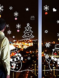 Christmas / Cartoon / Holiday Wall Stickers Plane Wall Stickers Decorative Wall Stickers / Wedding Stickers,PVC MaterialRemovable /