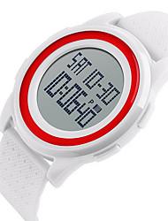 SKMEI Homens Relógio Esportivo Relógio de Pulso Digital LCD Calendário Impermeável Dois Fusos Horários alarme Luminoso Cronômetro Borracha