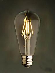 Amber 4W Edison Style 2200K ST64 Ceramic Led Filament Bulb E27