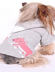 Dog Sweatshirt Blue / Gray Dog Clothes Winter / Spring/Fall Animal Keep Warm