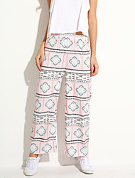 Women's Fashion Popular Print Straight Pants