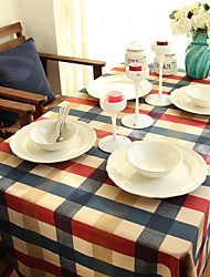 Square Gingham Table Cloth , 100% Cotton MaterialHotel Dining Table / Wedding Banquet Dinner / Table Decoration / Dinner Decor / Home