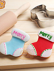Christmas Socks Biscuit Cake Mould Stainless Steel 6.5*7Cm