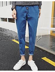 Hommes Droite Jeans Pantalon,Vintage Décontracté / Quotidien Motif Animal Taille Basse fermeture Éclair Coton Micro-élastique Sangle
