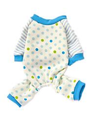 Dog Sweatshirt Blue Dog Clothes Summer Polka Dots Cute / Casual/Daily