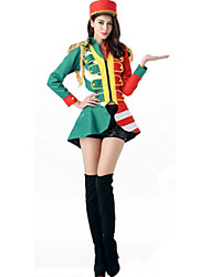 Cosplay Costumes Cosplay Movie Cosplay Green / Blue Solid Top / Pants / Hats Halloween / Carnival Female Polyester