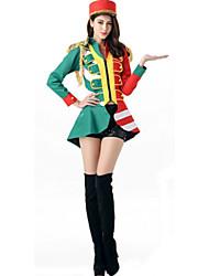 Costumes de Cosplay Cosplay Cosplay de Film Vert / Bleu Couleur Pleine Haut / Pantalon / Chapeau Halloween / Carnaval Féminin Polyester