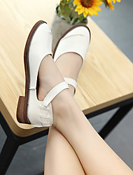 Women's Loafers & Slip-Ons Ankle Strap PU Casual White Camel
