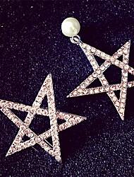Women's Stud Earrings Fashion Luxury Rhinestone Alloy Jewelry For Daily Casual