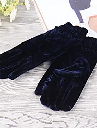 Damen Fingerspitzen,Freizeit einfarbig Winter