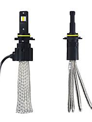 kawell водить лампы накаливания водить комплект фары преобразования - 9006 - 80w 6400lm 6500 холодный белый водить