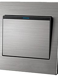 interruptor de parede painel único soquete de metal interruptor de parede superfície de aço