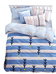 Mingjie Wonderful Light Blue Stripes Bedding Sets 4PCS for Twin Full Queen King Size from China Contian 1 Duvet Cover 1 Flatsheet 2 Pillowcases