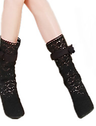 Women's Boots Winter Comfort Fabric Casual Stiletto Heel Black Brown Beige