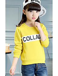 Girl Casual/Daily Solid Blouse,Cotton Winter / Fall Long Sleeve