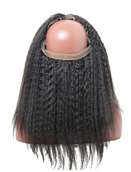 360 Frontal Around with Adjustment Straps Kinky Straight 8A Grade Indian Hair 360 Lace Band Frontal Closure With Baby Hair