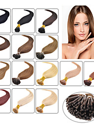 "100 X 0.5g 18"" Pre Bonded 100% Real Natural Stick Tip I Tip itip Human Hair Extensions 613# Blond"