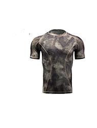 Course / Running Shirt Survêtement Débardeur Homme Manches courtes Respirable Séchage rapide Compression Anti-transpiration Confortable
