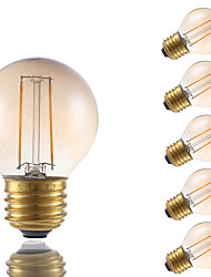 2W E26/E27 Lâmpadas de Filamento de LED G16.5 2 COB 160 lm Âmbar Regulável V 6 pçs
