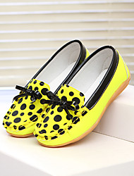 Girl's Boat Shoes Spring Fall Comfort PU Outdoor Casual Flat Heel Bowknot Yellow Red White Other