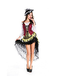 Festival/Holiday Halloween Costumes Red/Black Solid Top / Skirt / More Accessories / Headwear Halloween / Christmas / Carnival Female
