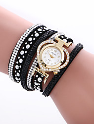 Watches Women Fashion Watch Crystal Heart Bracelet Leather Strap Quartz-Watch Clock Relogio Feminino Montre Femme