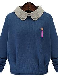 Fashion Large yards women Long sleeves Knitting Shirt Loose Was thin Splicing Coat