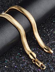 6MM Width 18k Gold Chain Bracelet Gold Anniversary Jewelry Gift (20.6cm Length)
