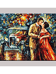 Lovers  Hand Painted Oil Painting   Home Decor For Living Room with Stretched Frame Ready to Hang