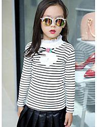 Girl Casual/Daily Solid Sweater & Cardigan,Cotton Winter ¾ Sleeve Regular