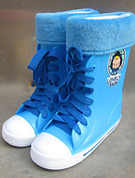 Girls' Boots Winter Synthetic Outdoor Flat Heel Lace-up Yellow Blue