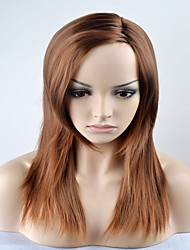 Europe and the United States in the long-term fashion straight brown hair Omber high temperature wire wig