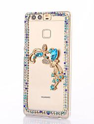 para p9 Huawei além Lite strass p8 caso de volta caso cobertura de borboleta dura do PC honra 8 7 6 6plus 5c 5x 4x 4c 4a companheiro 9 8 7