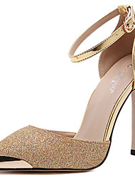 Women's Heels Spring Summer Fall Winter Comfort Club Shoes Light Up Shoes Leather Dress Casual Party & Evening Stiletto HeelSparkling