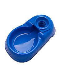 Dog Bowls & Water Bottles Pet Bowls & Feeding Portable Red / Blue Plastic