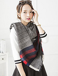 Women's Acrylic Square,Casual Geometric Fall Winter