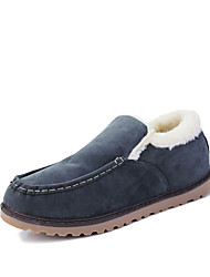 Men's Loafers & Slip-Ons Spring Fall Winter Comfort Fabric Outdoor Casual Flat Heel Black Blue