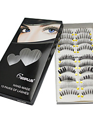 10 Eyelashes lash Full Strip Lashes Eyes Natural Long / The End Is Longer Extended / Lifted lashes / Volumized Manual Others Black Band