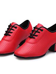 Sapatos de Dança(Preto / Vermelho) -Feminino-Não Personalizável-Latina
