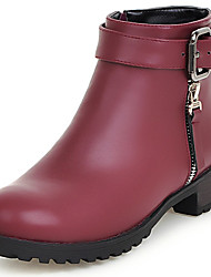 Women's Boots Spring / Fall / Winter Fashion Boots / Round Toe / Closed Toe  Outdoor / Dress /  Low HeelSplit Joint /