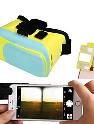 3D VR Glasses Google Cardboard Virtual Reality Case Headset with 3D Mini Camera Lens Make 3D Movie Game for Mobile Phone