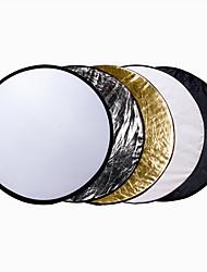 110 cm 43 pouces 5-in-1 draagbare opvouwbare inklapbare multi-disque réflecteur de lumière Studio Kit voor& verlichting extérieur