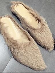 Damen-Slippers & Flip-Flops-Lässig-MikrofaserKomfort-Khaki